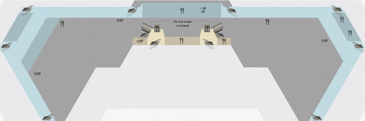 Схема терминала F аэропорта