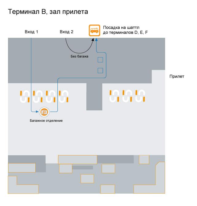 остановка шаттла терминал B